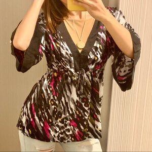 Alice Trixie 100% silk blouse L